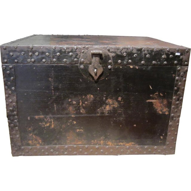 Chinese Black Wood Treasure Box - Image 4 of 4