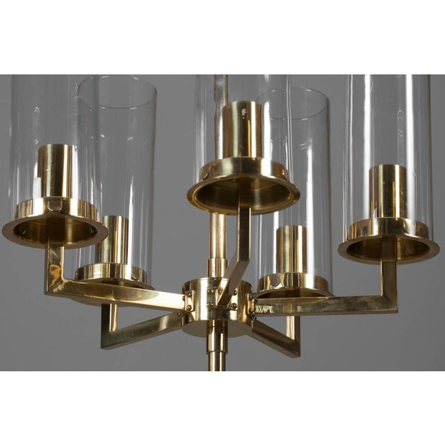Ten lights chandelier designed by Hans Agne Jakobsson, Markaryd, Sweden. Existing wiring, rewiring available upon request....