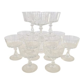 Vintage Champagne Coupe Glasses - Set of 12