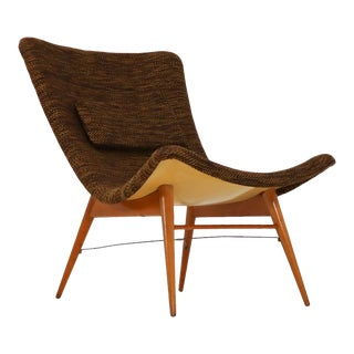Mid Century Modern Fiberglass Lounge Chairs by Miroslav Navratil, Czech Republic, 1959 For Sale