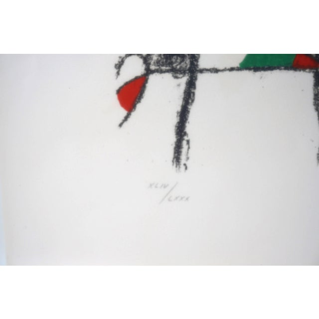 Lithograph by Joan Miro, Circa 1975, Lithographs Ii, Plate 10, Mourlot Paris For Sale In West Palm - Image 6 of 10