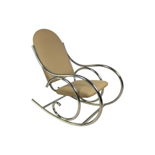 Modern Chrome Rocker In The Style of Michael Thonet For Sale