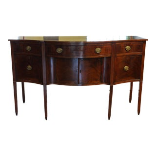 18th Century Traditional Boston Federal Period Mahogany Sideboard For Sale
