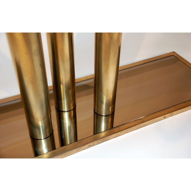 """2010s The """"Calandre"""" Brass and Bronze Mirrored Console For Sale - Image 5 of 9"""
