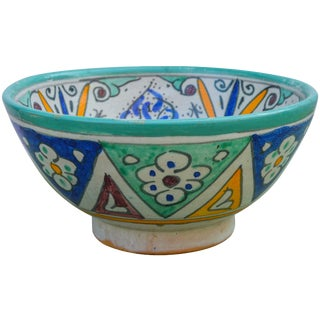 Moorish-Patterned Ceramic Bowl For Sale