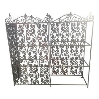 Antique Room Divider Shelf Planter For Sale