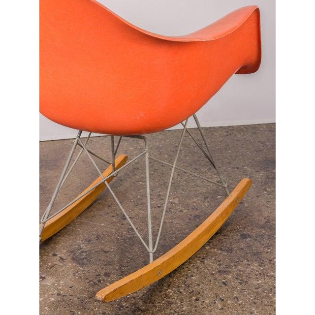 Orange Eames Orange Armchair on Rocker Base For Sale - Image 8 of 11