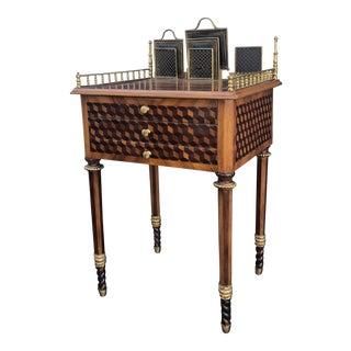 19th Century French Louis XVI Neoclassical Style Center Writing Desk For Sale