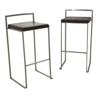 Pair of Bar Stools by Enzo Berti For Sale