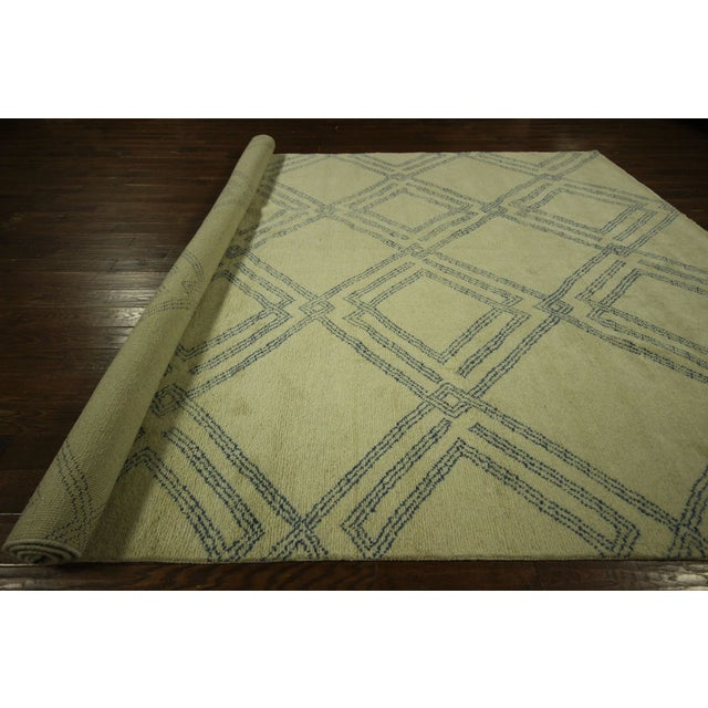 Diamond Moroccan Hand Knotted Rug - 10' x 13' - Image 10 of 10