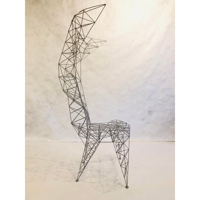 Pylon Chair designed by Tom Dixon for Cappellini. Painted welded thin steel rod construction. Manufactured entirely by hand.