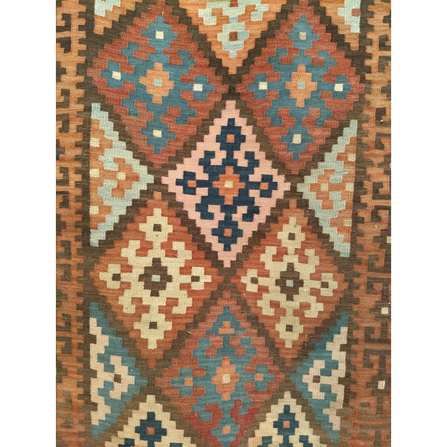 1920s Persian Flat Woven Kilim Runner - 2′10″ × 12′3″ For Sale - Image 5 of 13