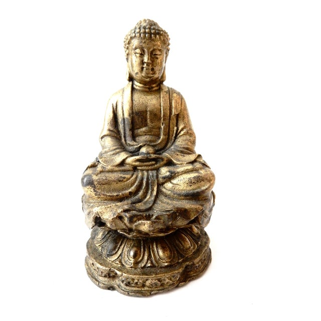 Brass Meditating Serenity Calming Buddha - Image 6 of 7