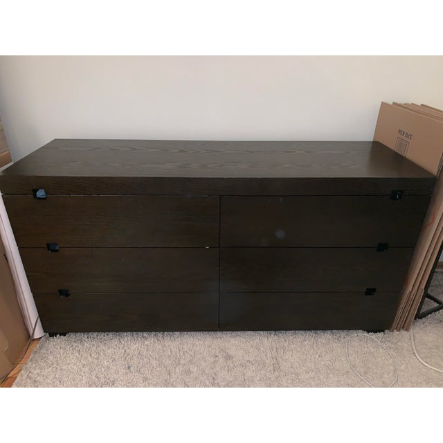 West Elm Chocolate Square Cutout 6 Drawer Dresser For Sale In New York - Image 6 of 6