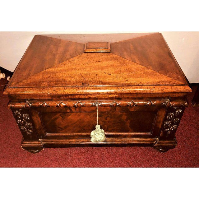 A 19th century rosewood Rococo carved dowry chest lead lined. Having dated this chest conservatively I can easily say that...