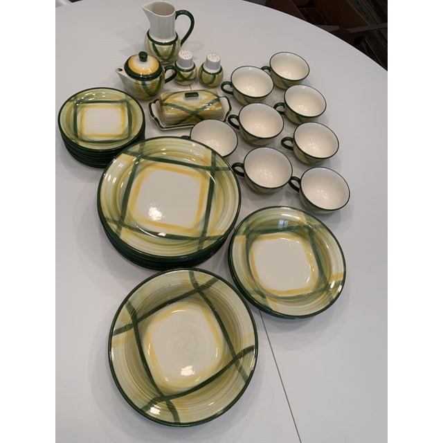 Vintage Mid-Century Vernonware Gingham Dinnerware - 40 Piece Set For Sale - Image 13 of 13