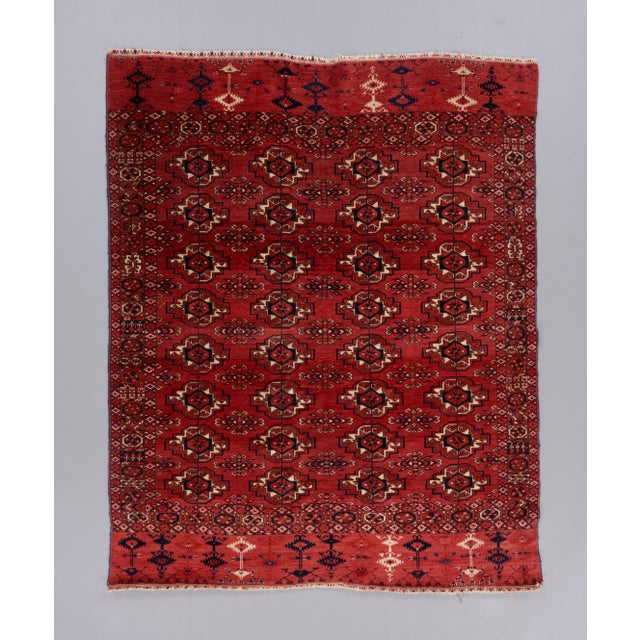 Mid 19th Century Mid 19th Century Tekke Turkmen Wedding Rug For Sale - Image 5 of 5