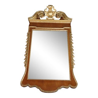 Colonial Williamsburg Friedman Brothers Gilded Georgian Style Mirror For Sale