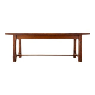 19th Century Country French Provincial Farmhouse Trestle Table For Sale