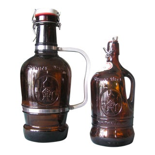 Vintage German Beer Jugs - A Pair For Sale