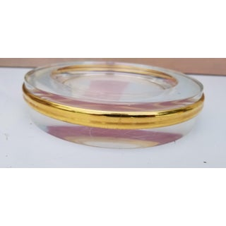 1970s Vintage Brass and Lucite Dish or Ashtray Preview