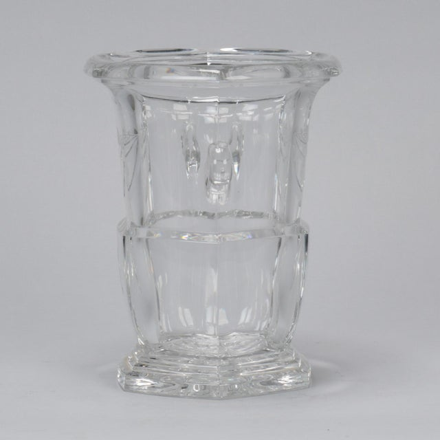 Early 20th Century Large Early 20th Century French Crystal Ice Bucket For Sale - Image 5 of 8
