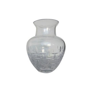 Authentic Tiffany Crystal Glass Vase For Sale