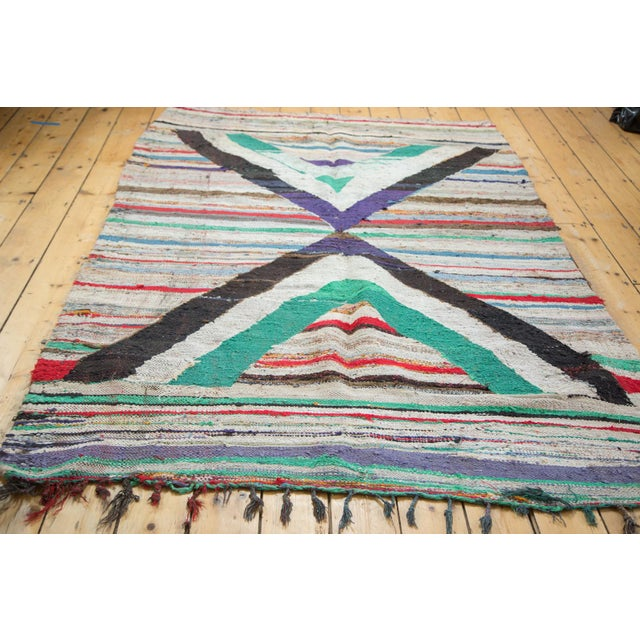 Dense construction vintage rag rug perfect for a fun and funky touch and happy, upbeat space such as a living room or play...