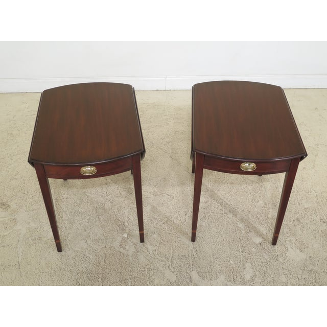 Pair Henkel Harris Mahogany Pembroke End Tables Age: C.1998 Details: #29 Finish Mahogany High Quality Construction 18 C....