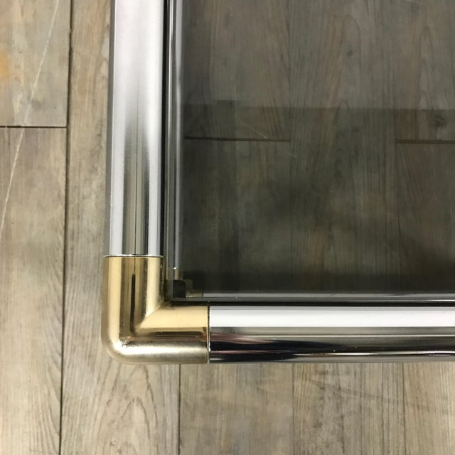 Mid-Century Modern Chrome Boxed End Tables Set - Image 9 of 11