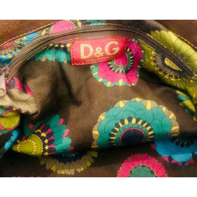 Metal Dolce & Gabbana D & G Leopard Fur Satchel Purse For Sale - Image 7 of 10