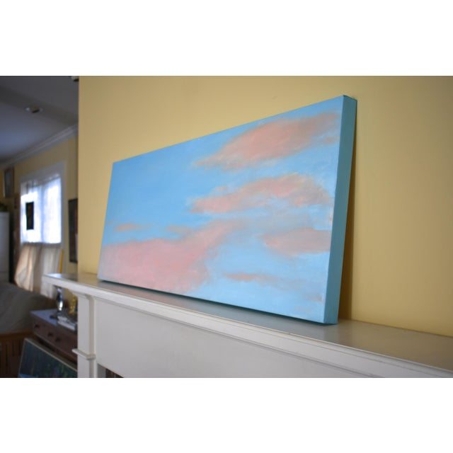 """Blue Modern """"Morning Clouds"""" Contemporary Painting by Stephen Remick For Sale - Image 8 of 10"""
