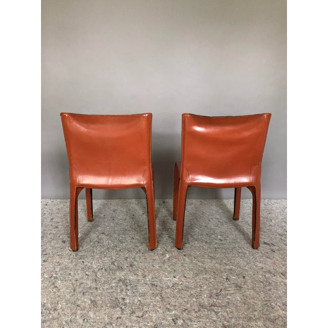 Mid-Century Modern Mario Bellini for Cassina Cab 412 Chairs - a Pair For Sale - Image 3 of 10