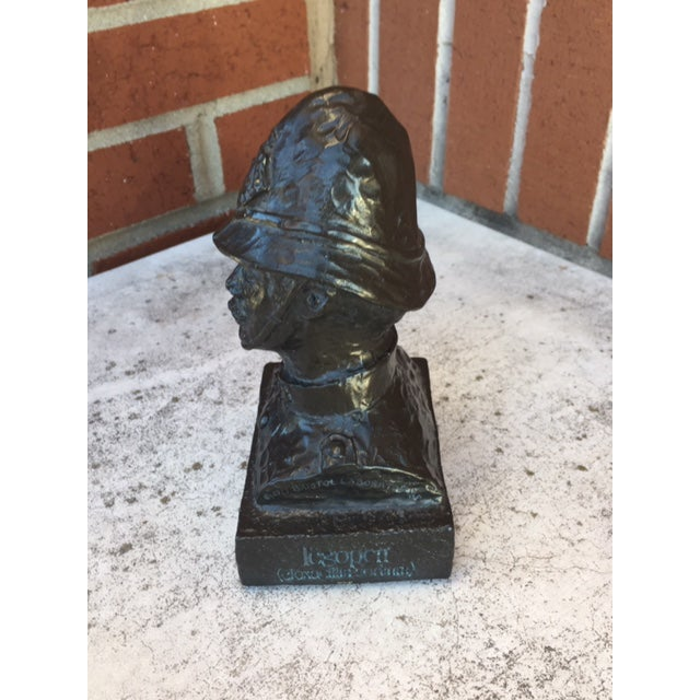 Black Mid-Century Oxford Bobby Bust For Sale - Image 8 of 10