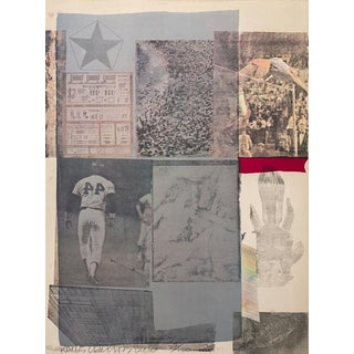 """""""Backout"""" Lithograph by Robert Rauschenberg For Sale"""