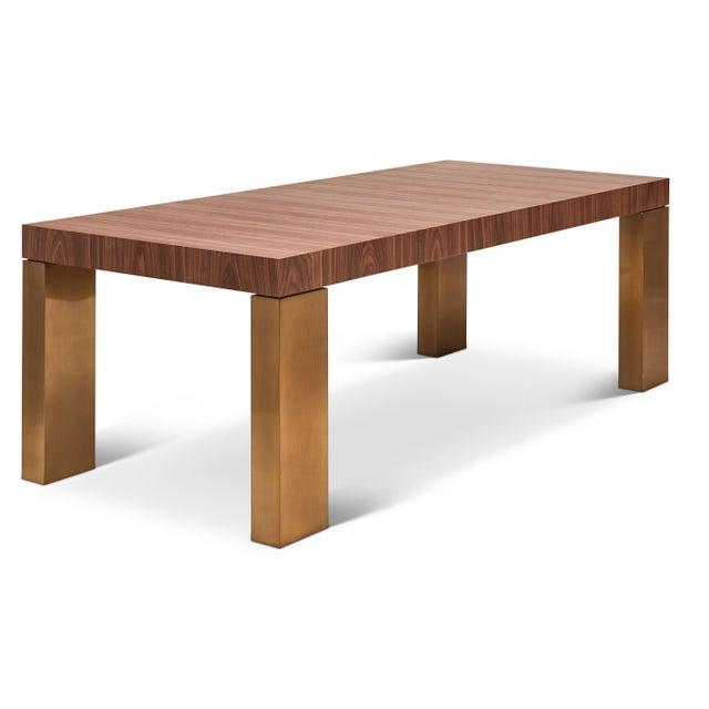 Debra Dining Table, Walnut For Sale In Philadelphia - Image 6 of 6