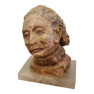 Einstein Clay Bust For Sale