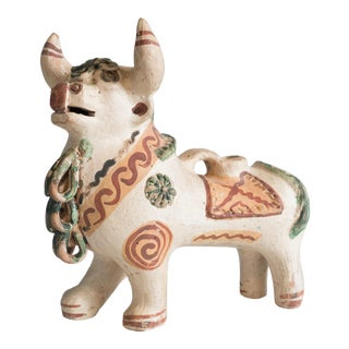 1940s Vintage Ceramic Torito De Pucara Sculpture For Sale