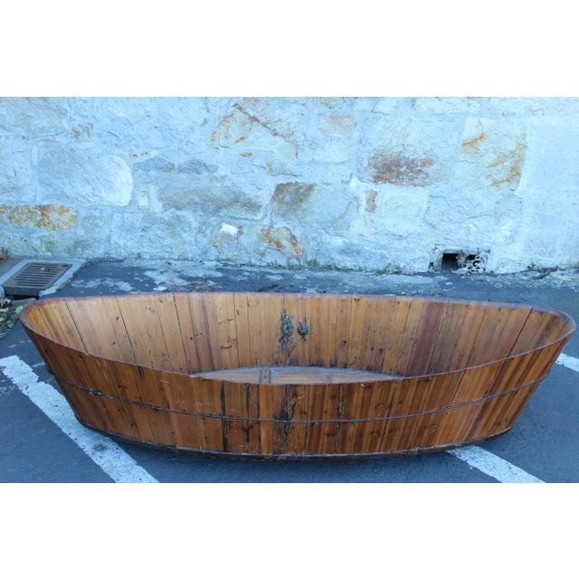 Incredible Antique Japanese Soaking Tub   DECASO