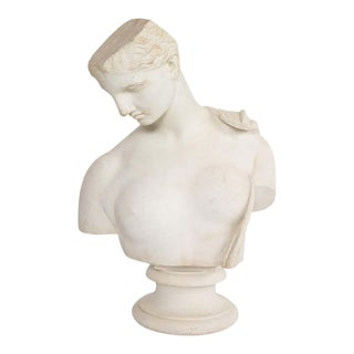 Antique Italian Neoclassical Marble Bust of Psyche, by Giuseppe Carnevale For Sale