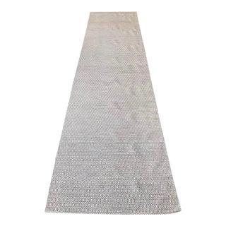"Handmade Wool Runner Rug - 3' x 11'10"""
