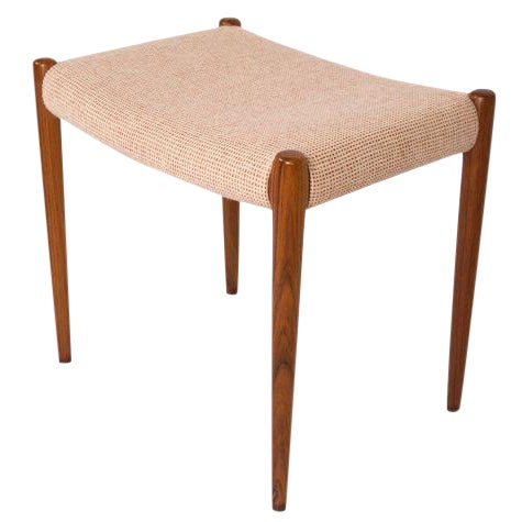 Niels Moller Rosewood Ottoman / Stool For Sale