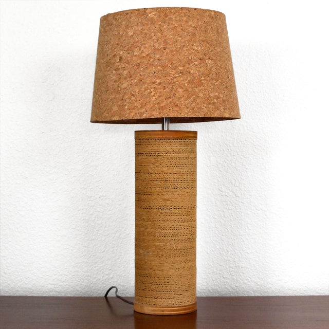 Gregory Van Pelt Cylindrical Cardboard Lamp With Cork Lamp