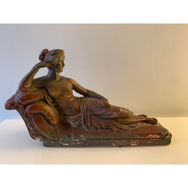 Plaster Reclining Female Figure Sculpture For Sale - Image 12 of 12