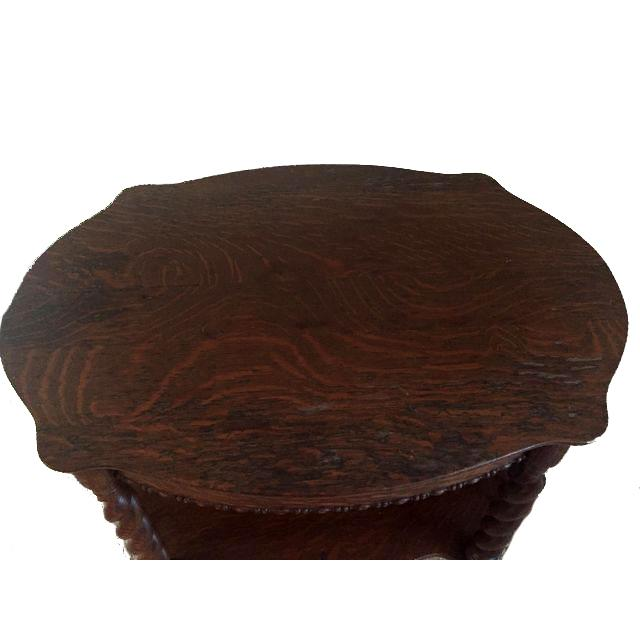 French Oak Barley Twist Entryway Hall Table For Sale - Image 3 of 4