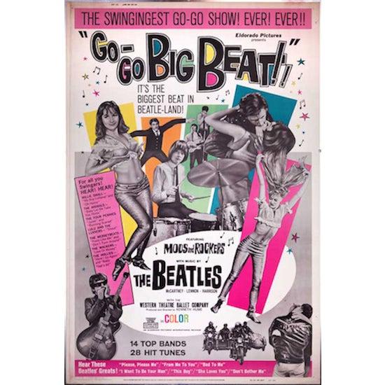 """Go-Go Big Beat"" 1965 Giant Movie Poster - Image 2 of 2"
