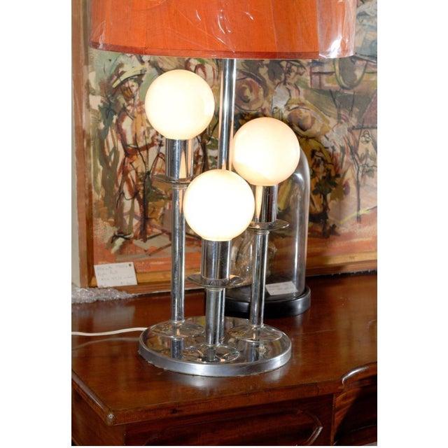Mid-Century Modern Mid Century Modern Chrome Lamp For Sale - Image 3 of 4