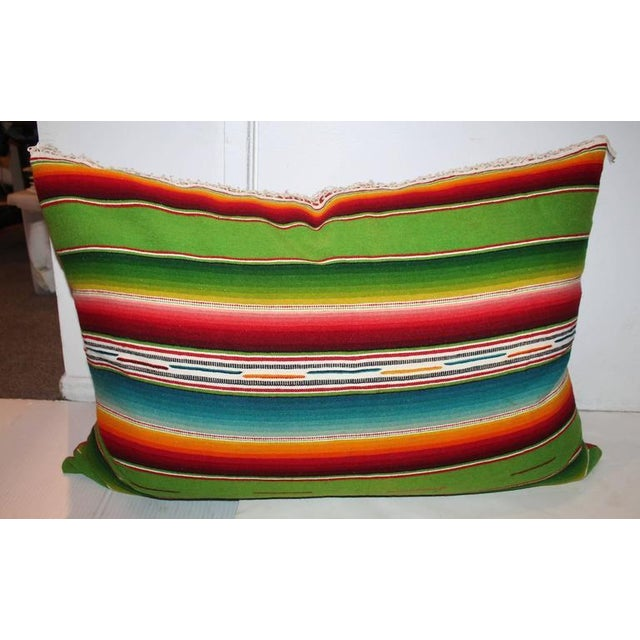Pair of Monumental Serape Bolster Pillows For Sale In Los Angeles - Image 6 of 9