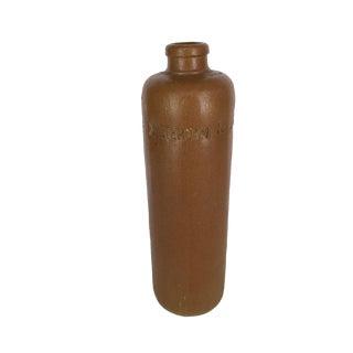 Antique Brown Stoneware Crock Vinegar Bottle Decanter For Sale