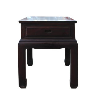 Chinese Oriental Brownish Rosewood Tea Side End Table Nightstand For Sale